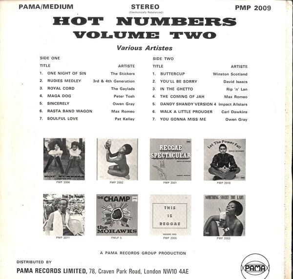 V.A. PETER TOSH. PAT KELLY. MAX ROMEO.ETC.. [Hot Numbers Vol 2]
