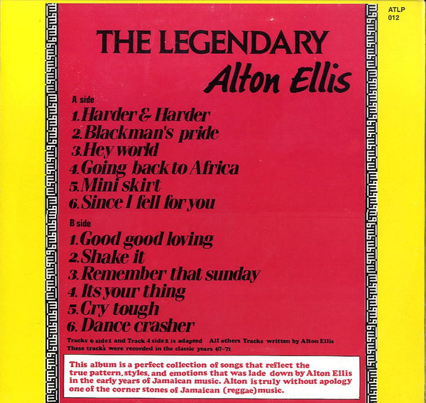 ALTON ELLIS [The Legendary]
