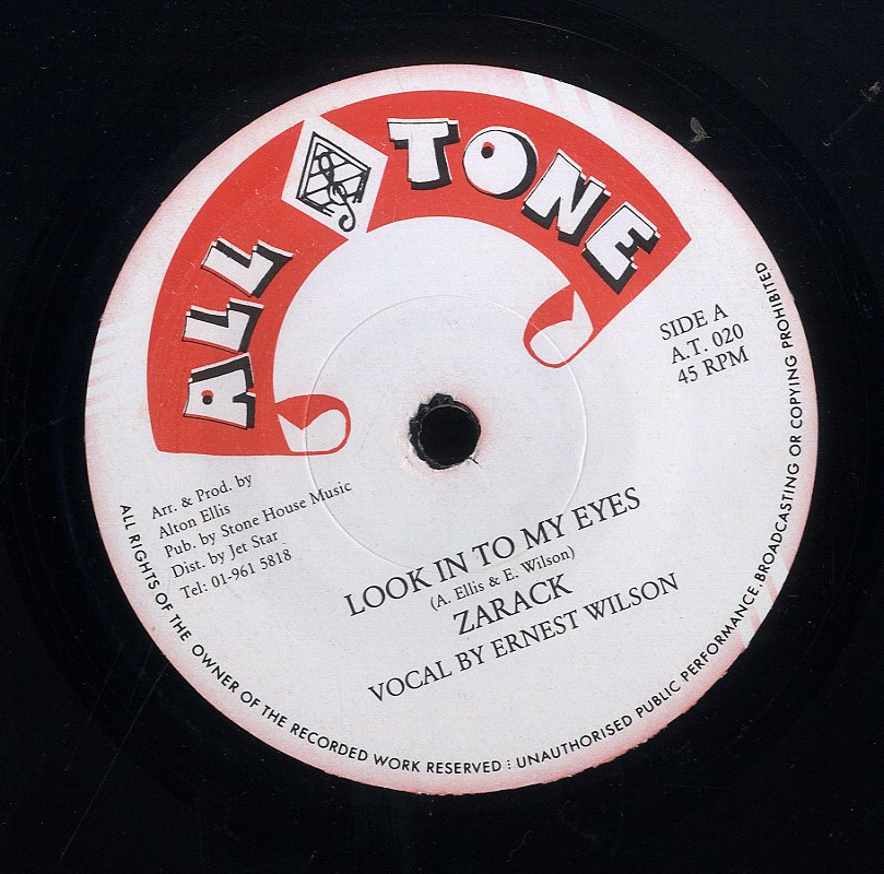 ERNEST WILSON & ZARACK / BAMMY ROSE [Look In To My Eyes / My Eyes]