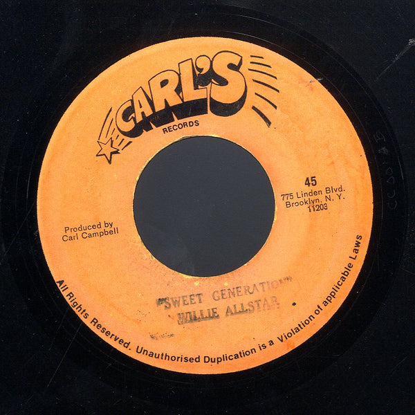 DELROY WILSON / WILLIE ALL STAR [Consider Yourself / Sweet Generation]