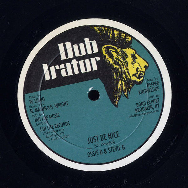 JUG HEAD / OSSIE D & STEVIE G [Words Of Love / Just Be Nice]