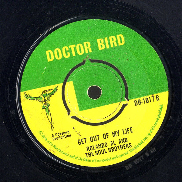 ROLAND AL & THE SOUL BOTHERS / ROLAND AL & THE SOUL BOTHERS(THE SETBACKS) [Sugar & Spice / Get Out Of My Life]
