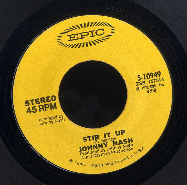 JOHNNY NASH [Stir It Up / Ooh Baby Youve Been Good To Me]