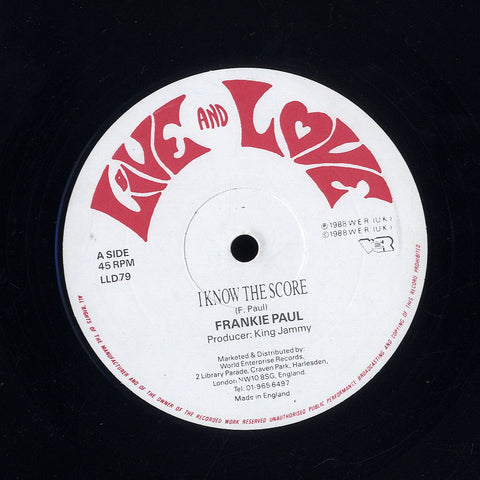 FRANKIE PAUL [Shame Them / I Know The Score]