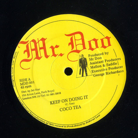 COCO TEA / NINJA MAN [Keep On Doing It / New Gun Fi Buss]