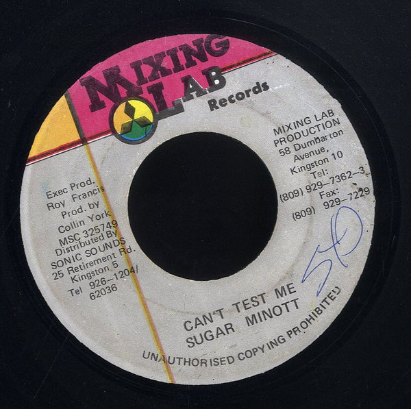 SUGAR MINOTT [Can't Test Me]