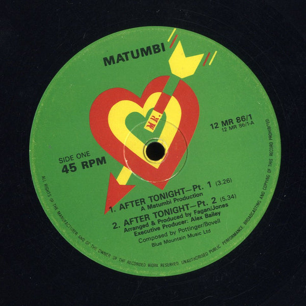 MATUMBI / DENNIS BOVELL, MATUMBI [After Tonight Pt.1, Pt.2 / Pt.3, Take It From Me ]