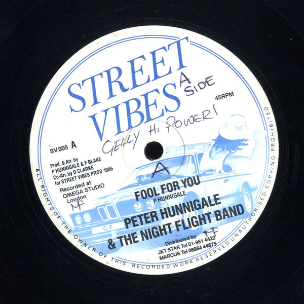 PETER HUNNIGALE & THE NIGHT FLIGHT BAND [Fool For You]