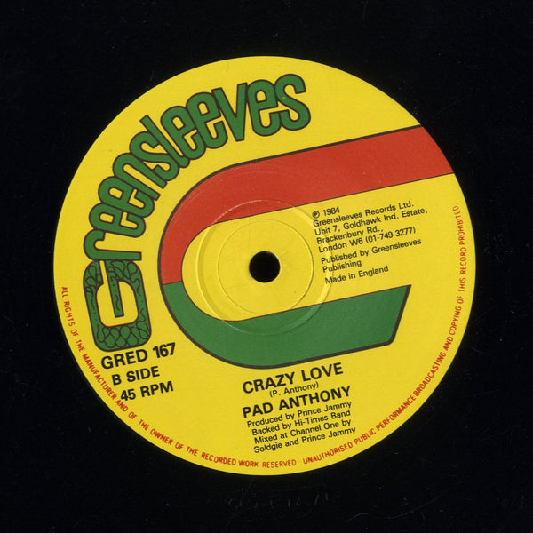 PAD ANTHONY / DENNIS BROWN [Crazy Love / It's Magic]