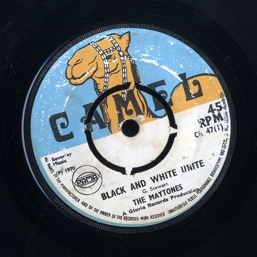 THE MAYTONES / GLORIAS ALLSTARS [Black And White Unite / Jumbo Jet]