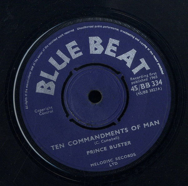 PRINCE BUSTER / BUSTER'S ALL STARS [Ten Commandments Of Man / Buster's Welcome]