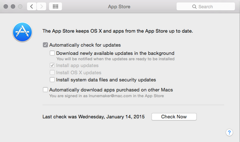 turn off automatic updates in Mac OS