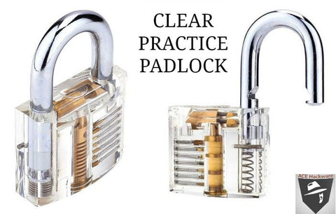 clear practice padlock at ace hackware