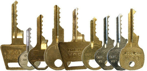 Large Pad Lock Bump Key Set