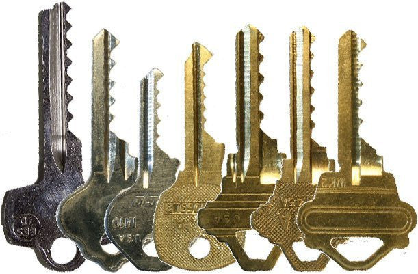 Security Bump Key Set of 7 Keys