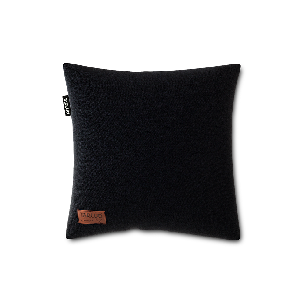 "Komfy 18"" Square Pillow - Onyx Black"