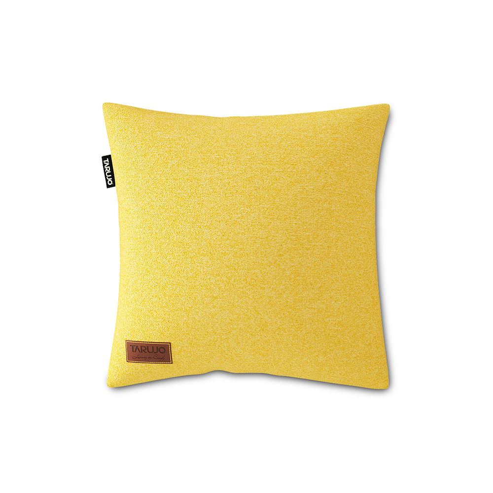 "Komfy 18"" Square Pillow - Lemon Yellow"