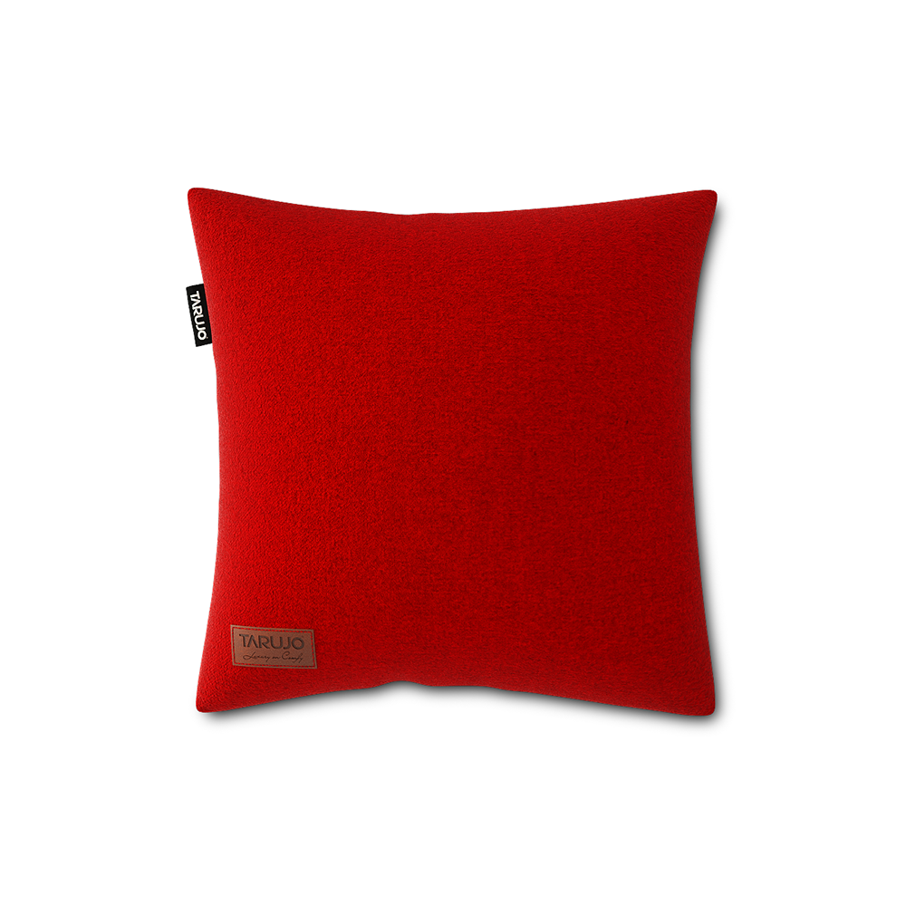 "Komfy 18"" Square Pillow - Cardinal Red"