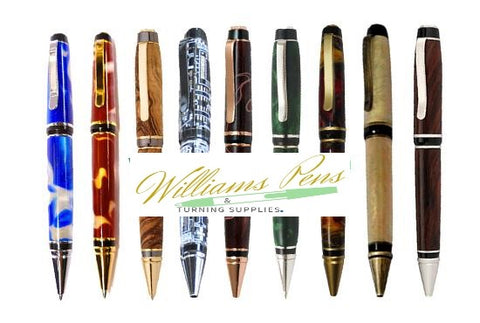 Chrome Cigar Pen Kits - Williams Pens & Turning Supplies.