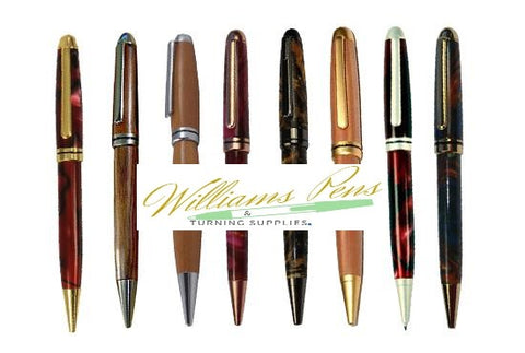 Gold Euro Pen Kits - Williams Pens & Turning Supplies.