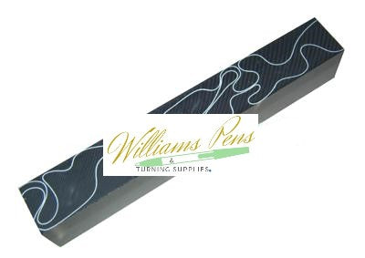 Acrylic Black with White Swirl Pen Blank - Williams Pens & Turning Supplies.