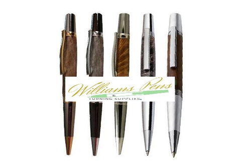 Chrome + Colourful Vacuum Plating Elegant Beauty Sierra Pen Kits - Williams Pens & Turning Supplies.