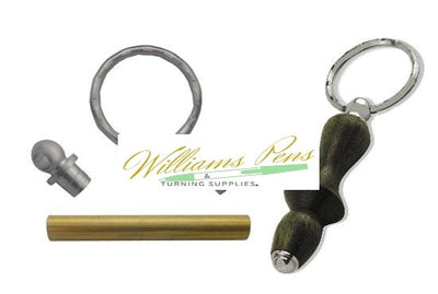 Satin Chrome Key Ring Kit - Williams Pens & Turning Supplies.
