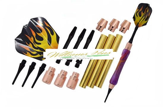 Copper Soft Tip Dart Kits - Williams Pens & Turning Supplies.