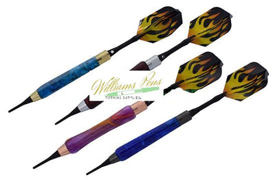 Chrome Soft Tip Dart Kits - Williams Pens & Turning Supplies.