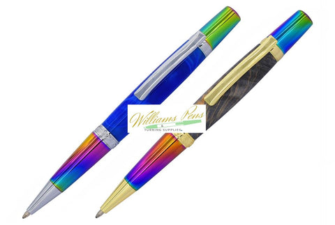 Chrome & Black Chrome Elegant Beauty Sierra Pen Kit - Williams Pens & Turning Supplies.