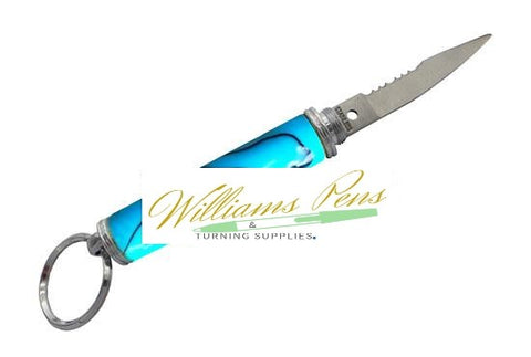 Chrome Compact Keychain Knife Kit - Williams Pens & Turning Supplies.
