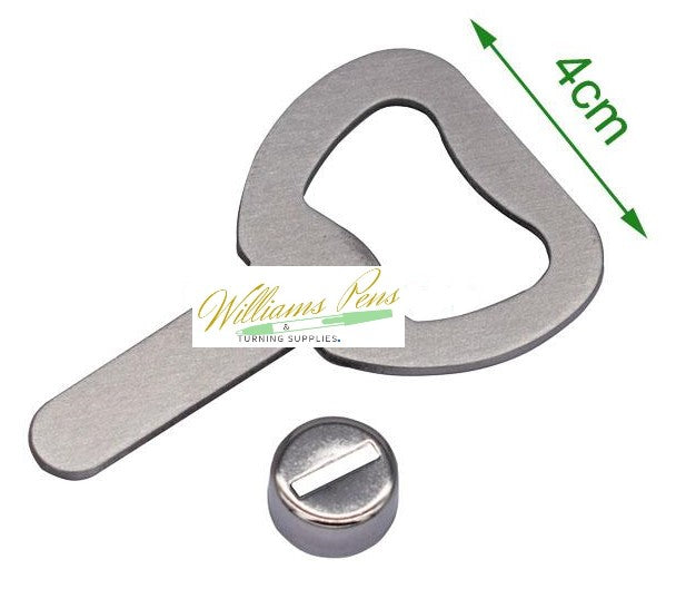 Stainless Steel Bottle Opener Kit Budget - Williams Pens & Turning Supplies.