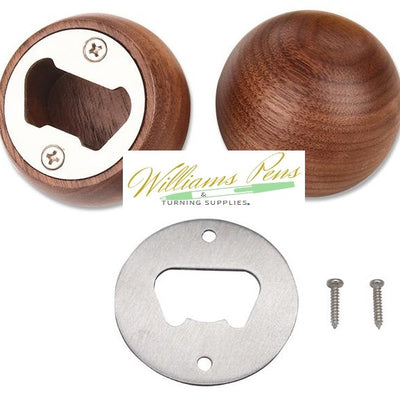 Stainless Steel Bottle Opener Disc Kit - Williams Pens & Turning Supplies.