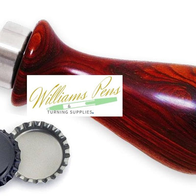Stainless Steel Bottle Opener For Handle - Williams Pens & Turning Supplies.