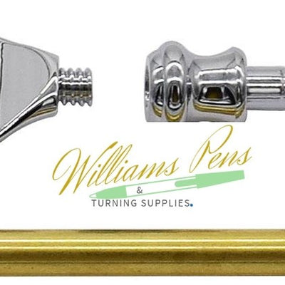 Chrome Fusion Razor Shaver Handle Kits - Williams Pens & Turning Supplies.