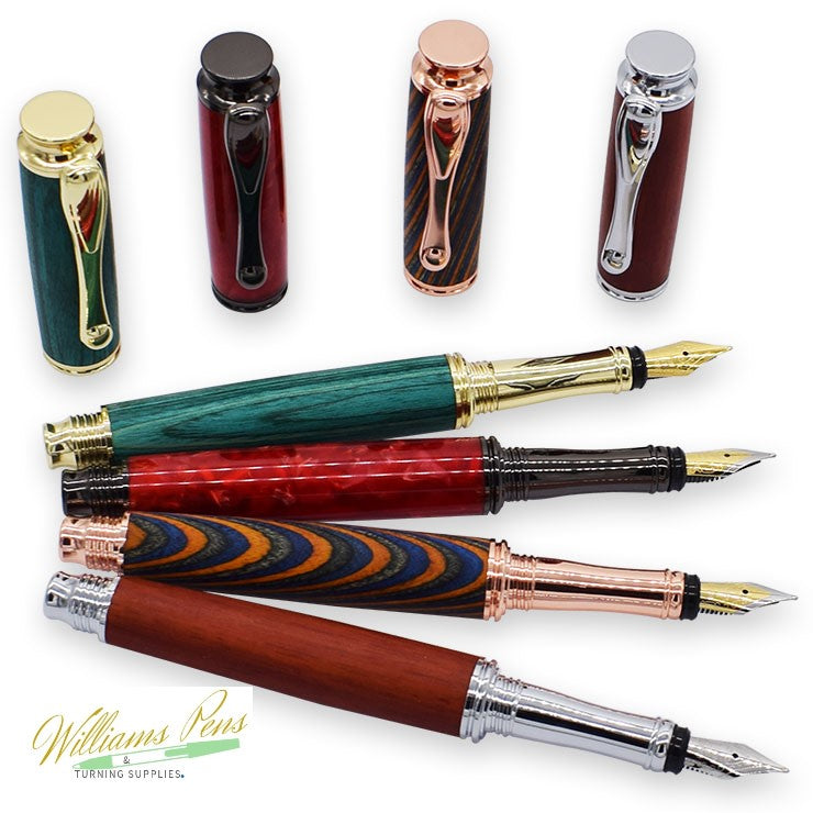 Gun Metal AstonMatin Fountain Pen Kits - Williams Pens & Turning Supplies.