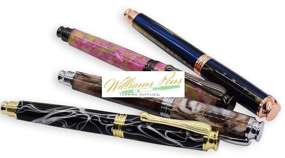 Chrome AstonMatin Rollerball Pen Kits - Williams Pens & Turning Supplies.