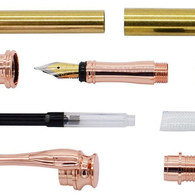Copper AstonMatin Fountain Pen Kits - Williams Pens & Turning Supplies.