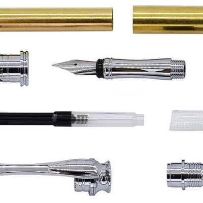 Chrome AstonMatin Fountain Pen Kits - Williams Pens & Turning Supplies.