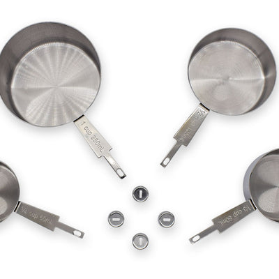 Stainless Steel Measuring Cup Kits (4pcs/set) - Williams Pens & Turning Supplies.