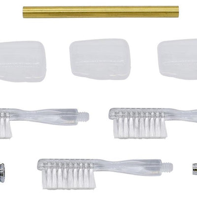 Chrome Toothbrush Handle Kits - Williams Pens & Turning Supplies.