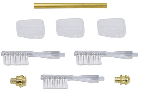 Gold Toothbrush Handle Kits - Williams Pens & Turning Supplies.