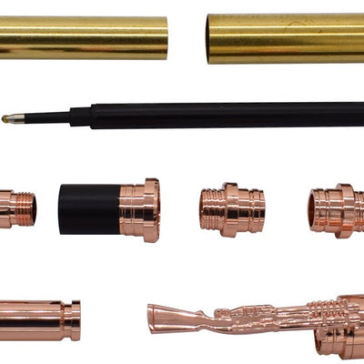 Copper CN Lake Bullet Rollerball Pen Kits - Williams Pens & Turning Supplies.