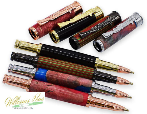 Chrome CN Lake Bullet Rollerball Pen Kits - Williams Pens & Turning Supplies.
