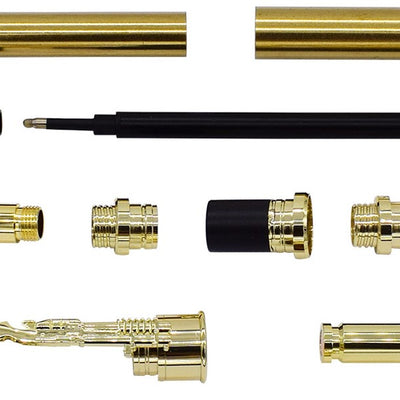 Gold CN Lake Bullet Rollerball Pen Kits - Williams Pens & Turning Supplies.