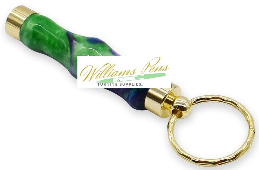 Gold Secret Compartment Key Ring Toothpick Size Smooth - Williams Pens & Turning Supplies.
