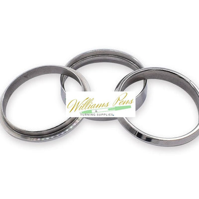 Stainless Steel Ring Core (3pcs/set,1pcs inner ring + 2pcs outside rings) Inside dimension: 21.6mm. Width size: 5mm