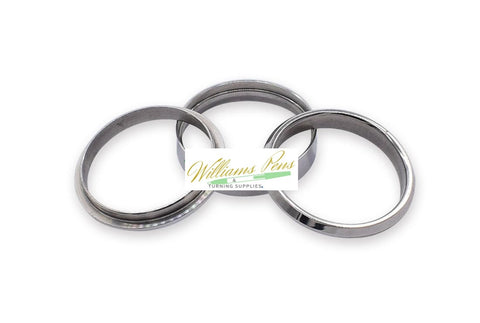 Stainless Steel Ring Core (3pcs/set,1pcs inner ring + 2pcs outside rings) Inside dimension: 21.6mm. Width size: 9mm