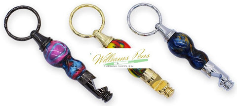 Chrome Bottle Opener Key Chain Kits