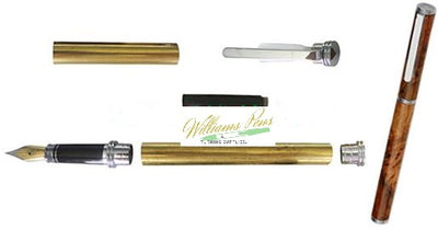 Chrome Conservative Fountain Pen Kits
